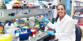 Travel Fellowship Paula Llabata at her bench
