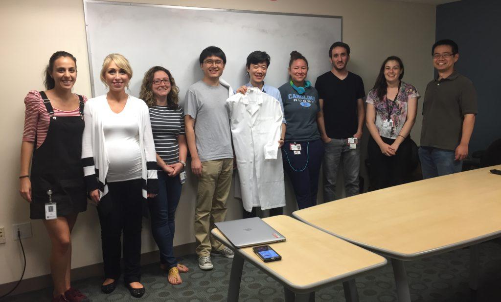 Paula Llabata with Meyerson lab members