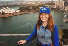 Rebecca Steele on Sydney Harbour Bridge
