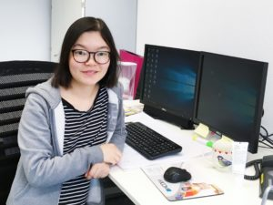 Xing Xu in the lab